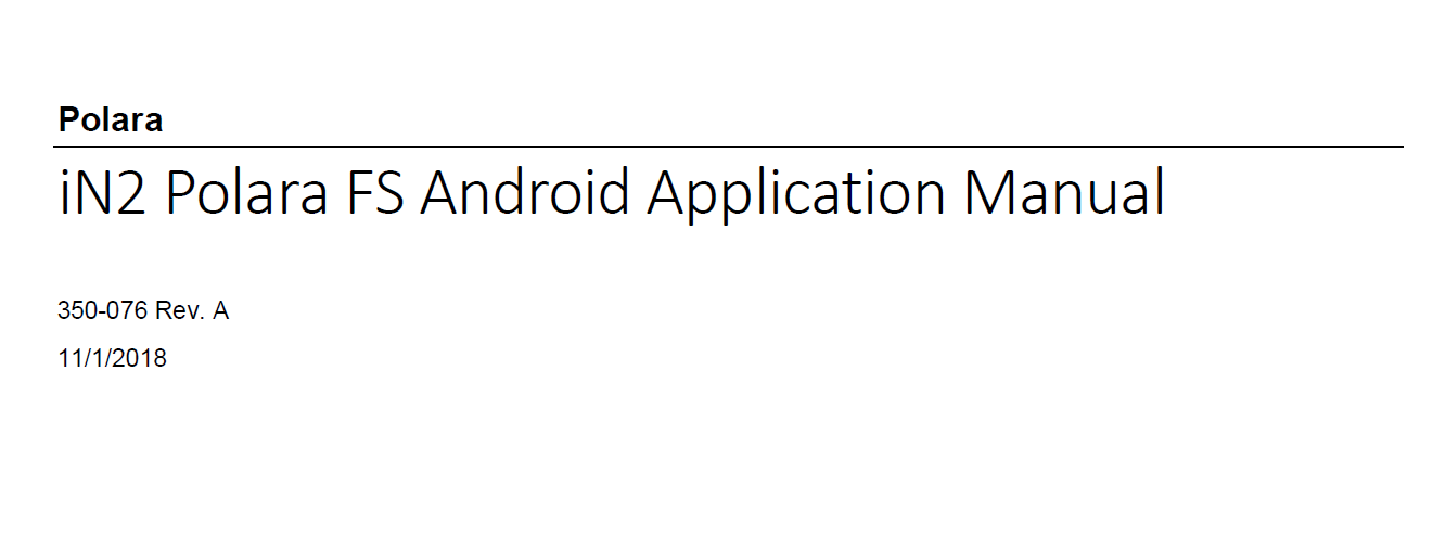 in2 android application manual